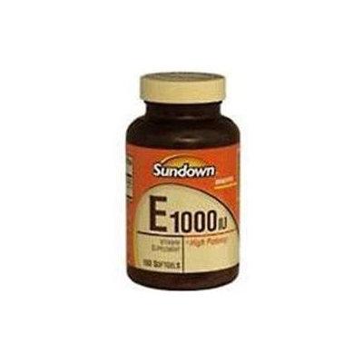 Sundown Naturals Vitamin E 1000 IU Super Potency, Softgels