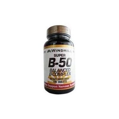 Super B-50, Balanced B Complex, 100 Tablets, Windmill Health Products