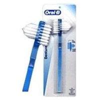 Oral-B denture dual head tooth brush - 1 ea
