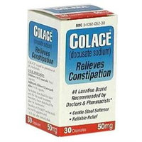 Colace Stool Softner Colace Docusate Sodium Stool Softener Laxative 50 Mg Capsules - 30 Ea