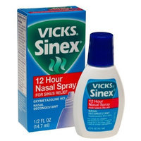 Vicks Sinex Nasal Spray for Sinus Relief with Soothing Vicks Vapor, 12 Hour , 0.5-Ounce (14.7 ml) (Pack of 4)
