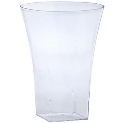 King Zak Ind Lillian Tablesettings 12445 Clear 14 Oz Plastic Flared Tumbler - 240 Per Case