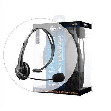 NoiseHush NX70 Black Crystal Clear Multimedia Headset
