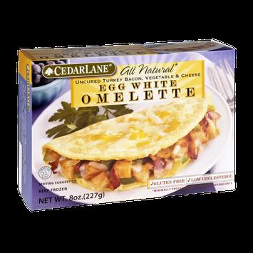 Cedar Lane All Natural Uncured Turkey Bacon, Vegetable & Cheese  Egg White Omlette