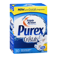 Purex with Crystals Triple Action Detergent Fresh Spring Waters - 30 Loads