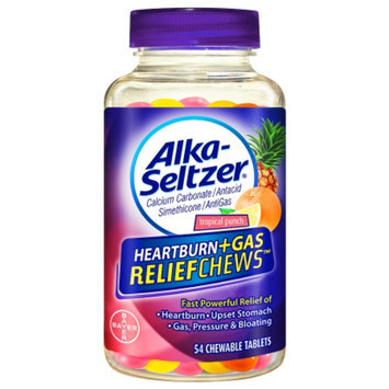 Alka-Seltzer Heartburn + Gas ReliefChews Chewable Tablets, Tropical Punch