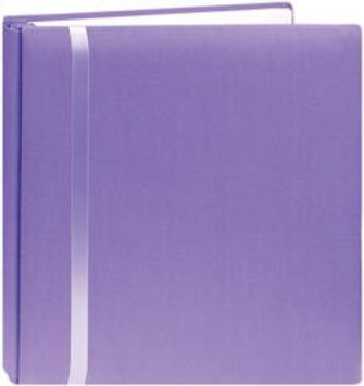 Pioneer Photo Albums Snapload Scrapbook Cloth With Ribbon 12X12-Purple