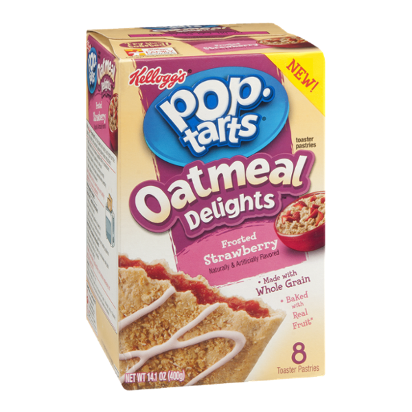 Kellogg's Pop-Tarts Oatmeal Delights Frosted Strawberry Toaster Pastries