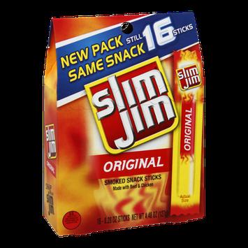 Slim Jim Original Smoked Snack Sticks - 16 CT