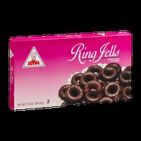 Joyva Ring Jells Chocolate Covered