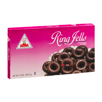 Joyva Ring Jells Chocolate Covered