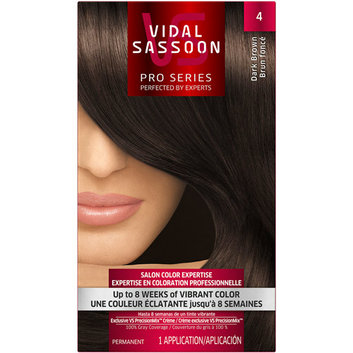 Vidal Sassoon Pro Series Hair Color 4 Dark Brown 1 Kit