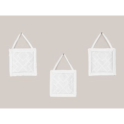 Sweet Jojo Designs Diamond White Collection Wall Hangings