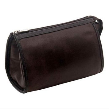 Piel Leather Vintage Tear Drop Cosmetic Bag - Brown