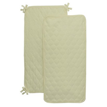 Royal Heritage Quilted Yellow Terry Cloth Sheet Saver - Set of 2