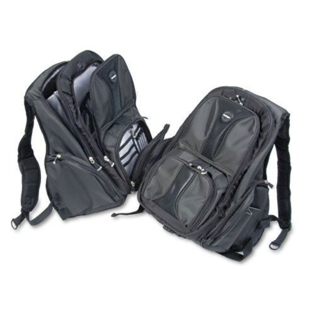 Kensington Contour Laptop Backpack, Nylon, Black