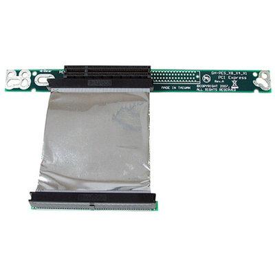 StarTech.com PCI Express Riser Card x8 Left Slot Adapter 1U with Flexible Cable - Riser card