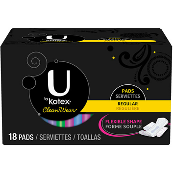 Kotex U By  CleanWear Menstrual Pads