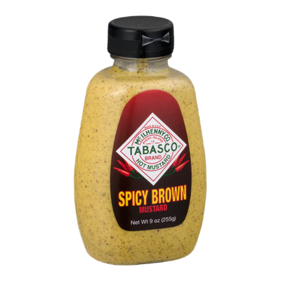 Tabasco Hot Mustard Spicy Brown