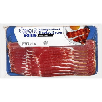 Great Value Hardwood Smoked Thick Sliced Bacon, 12 oz