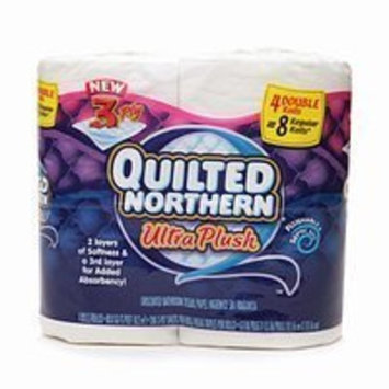 Quilted Northern Bathroom Tissue, Ultra Plush Double Rolls 4 Count