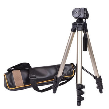 42 Compact Travel Digital Camera & Camcorder Tripod w/Carrying Case - Silver