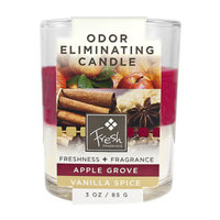 Fresh Fragrance Fresh Odor Eliminating Candle - Apple & Vanilla, 3 oz