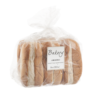 Bakery Mini Sub Rolls - 6 CT