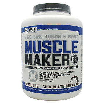 Giant Sports Products Muscle Maker Chocolate Shake - 6 lbs (2721.6 Grams)