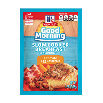 McCormick® Good Morning Ultimate Egg Casserole Slow Cooker Breakfast Seasoning Mix