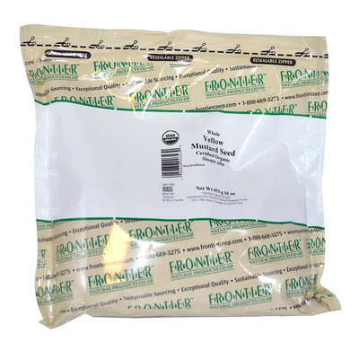 FRONTIER HERB Org Whole Yellow Mustard Seed