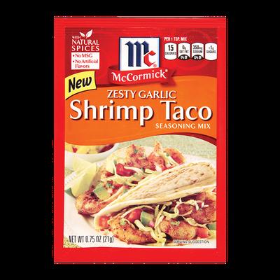 McCormick® Zesty Garlic Shrimp Taco Seasoning Mix