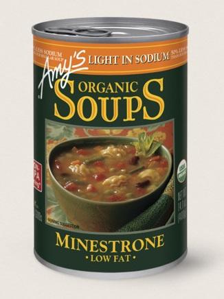 Amy's Kitchen Organic Minestrone Soup, Light In Sodium