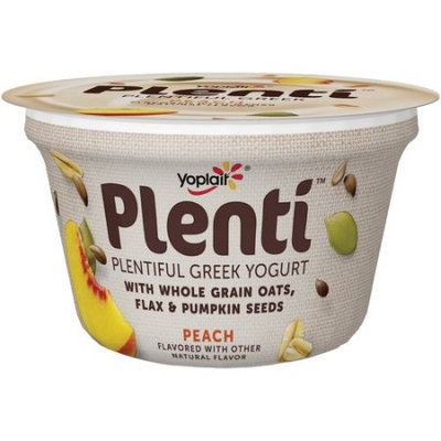 Yoplait® Plenti™ Peach Low Fat Greek Yogurt