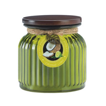 Koehlerhomedecor Coconut Lime Ribbed Jar Candle
