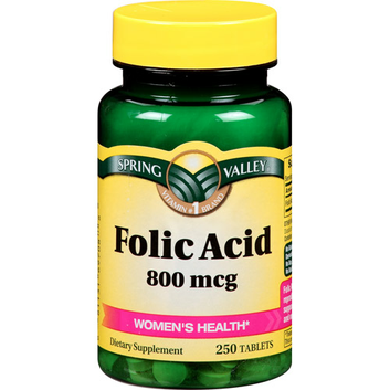 Spring Valley Folic Acid 800 mcg