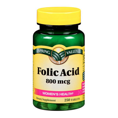 Spring Valley Folic Acid 800 mcg
