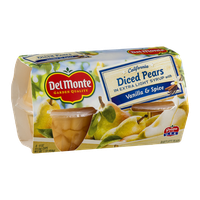 Del Monte California Diced Pears In Extra Light Syrup Vanilla & Spice - 4 CT