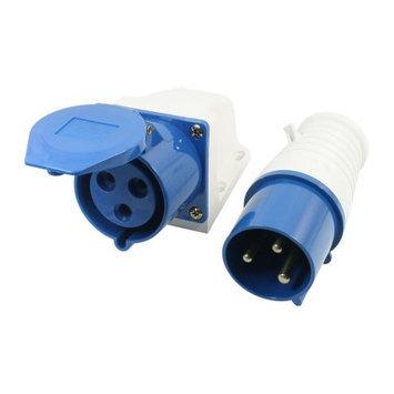 Panel Mount 2P+E IP44 Waterproof M/F Industrial Socket AC 220V-250V 32A