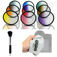 Opteka HD Graduated Color Filter Kit for Nikon D4s, D4, D3x, Df, D810, D800, D750, D610, D600, D7200, D7100, D5500, D5300, D5200, D3300 and D3200 Digital SLR Cameras (Fits 52mm and 67mm Threads)