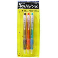 Ddi Retractable ball point pens 3 pack colors(Case of 48)