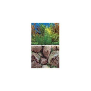 Double-Back Background - Boulders - Grassy Plants - 24 in. (Sold by ft.)