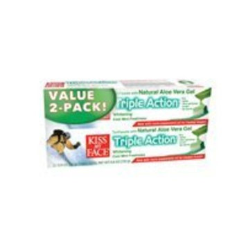 Kiss My Face Triple Action Value Pack Toothpaste Twin Pack 1 multi