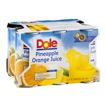 Dole Pineapple Orange Juice - 6 PK