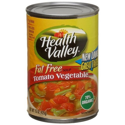 Health Valley Soup, Tomato Vegetable Fat Free, 15 Ounce Cans (Pack of 12)