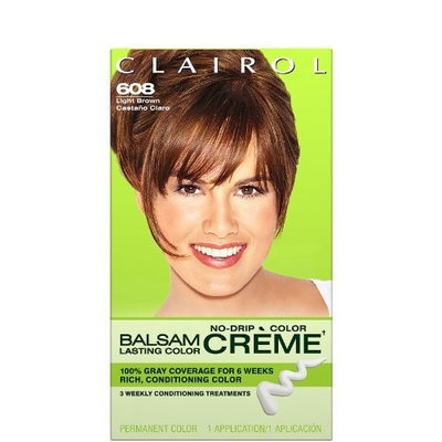 Clairol Balsam Lasting Color Creme Hair Color-Light Brown (608)