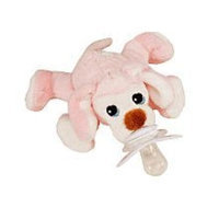 Paci Plushies Pixie The Puppy Pacifier