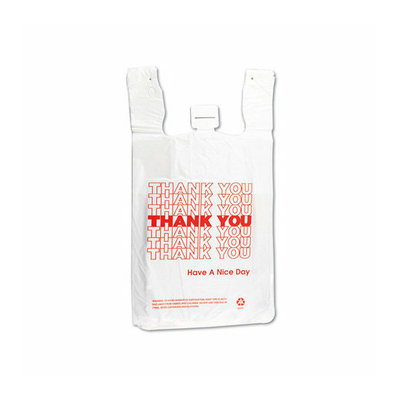 Inteplast Group T-Shirt Thank You Bag in White