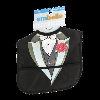 Embelle Wipe-Off Bib Tuxedo