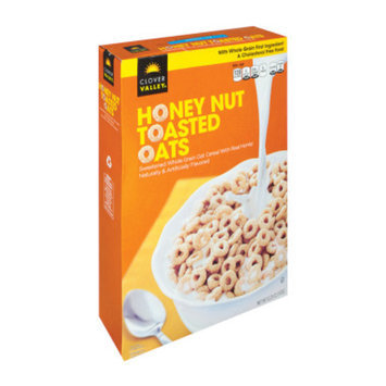 Clover Valley Honey Nut Toasted Oats Cereal - 12.25 oz